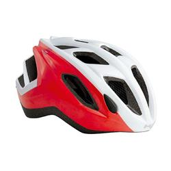 Met Espresso Red White Kinderhelm